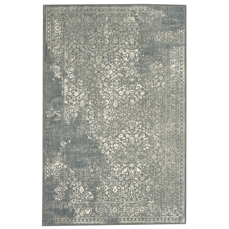 Karastan Rugs Euphoria 3'6x5'6 Ayr Willow Grey Rug - Item Number: 90643 90075 042066