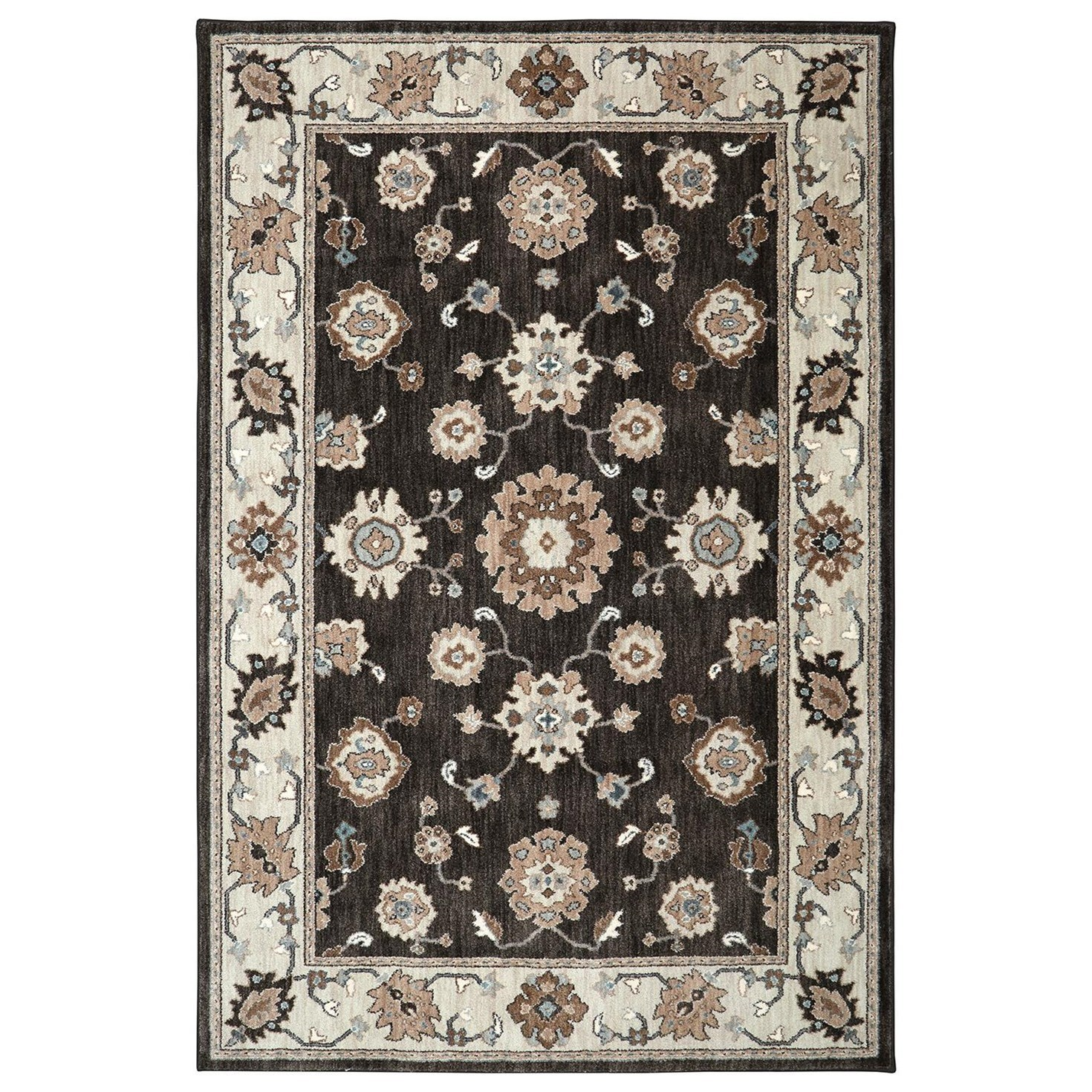 Karastan Rugs Euphoria 3'6x5'6 Kirkwall Brown Rug - Item Number: 90644 80175 042066