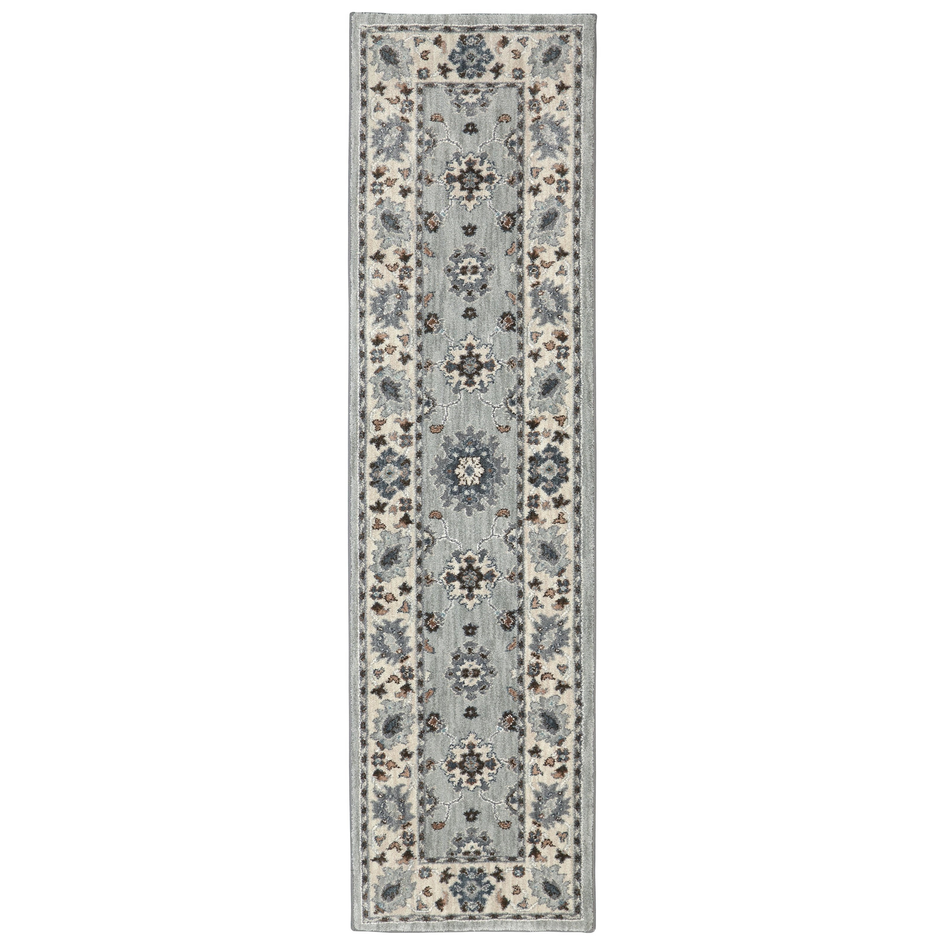 Karastan Rugs Euphoria 2'1x7'10 Kirkwall Willow Grey Rug Runner - Item Number: 90644 90075 025094