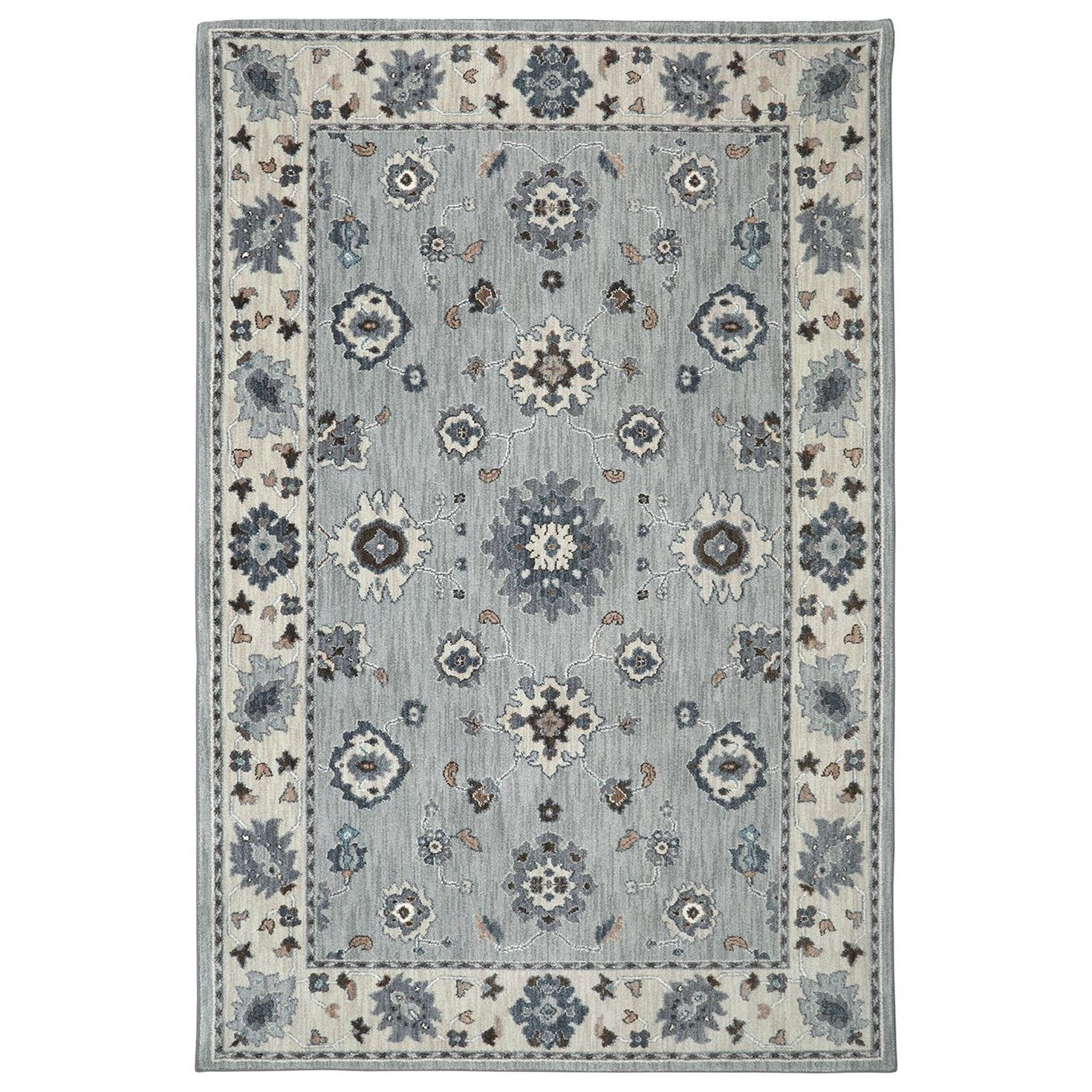 Karastan Rugs Euphoria 3'6x5'6 Kirkwall Willow Grey Rug - Item Number: 90644 90075 042066