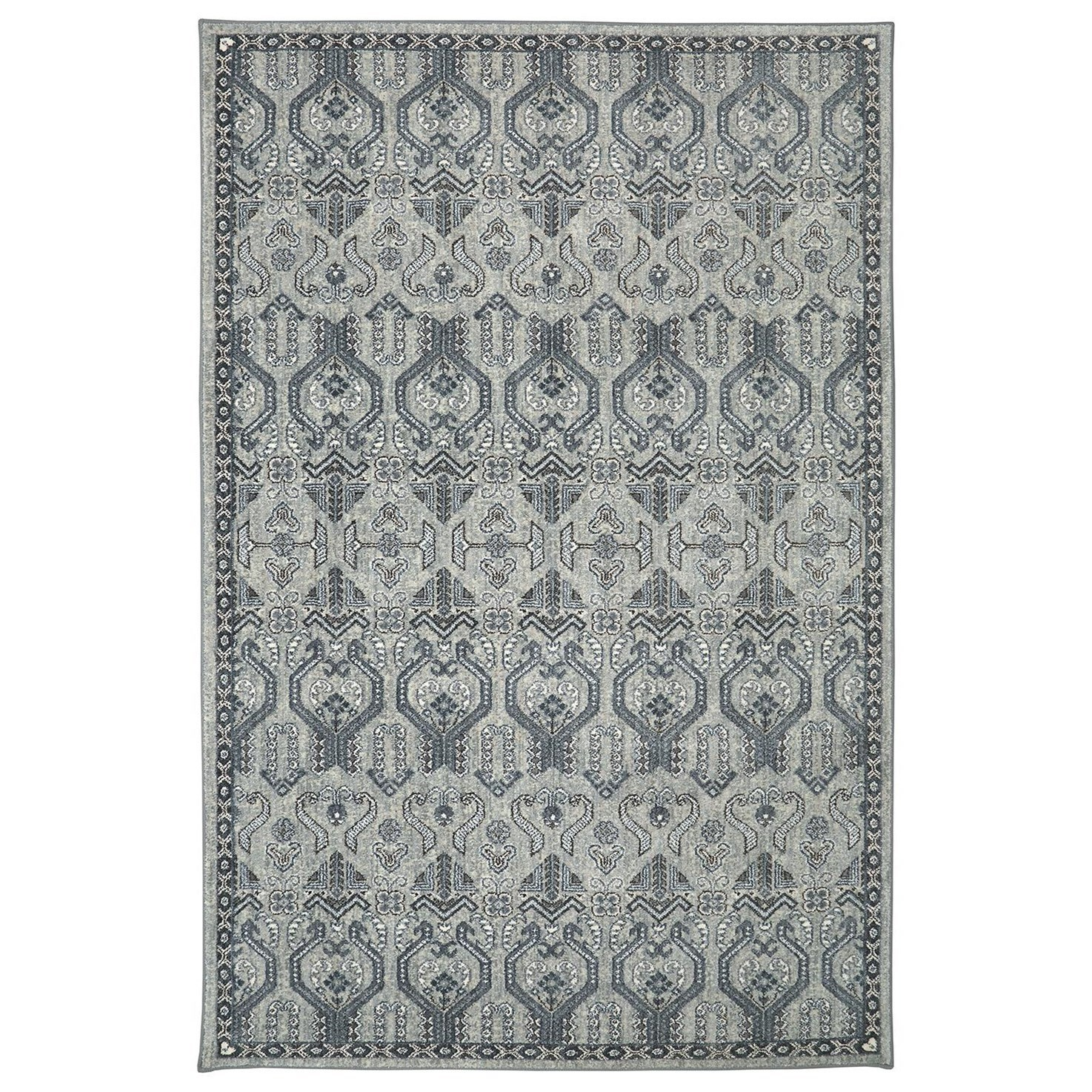 Karastan Rugs Euphoria 5'3x7'10 Castine Willow Grey Rug - Item Number: 90646 90075 063094