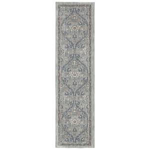 Karastan Rugs Euphoria 2'1x7'10 Galway Willow Grey Rug Runner
