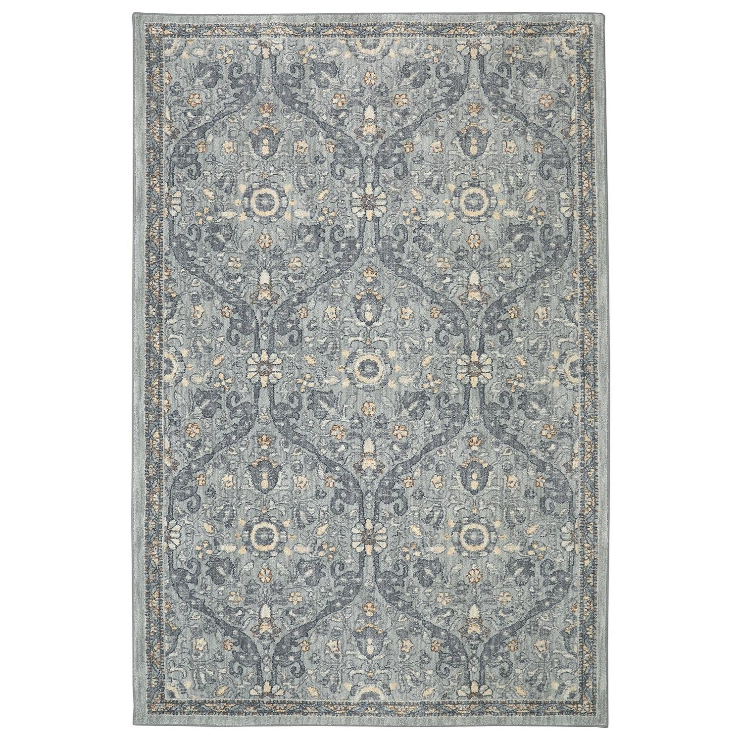 Karastan Rugs Euphoria 3'6x5'6 Galway Willow Grey Rug - Item Number: 90647 90075 042066