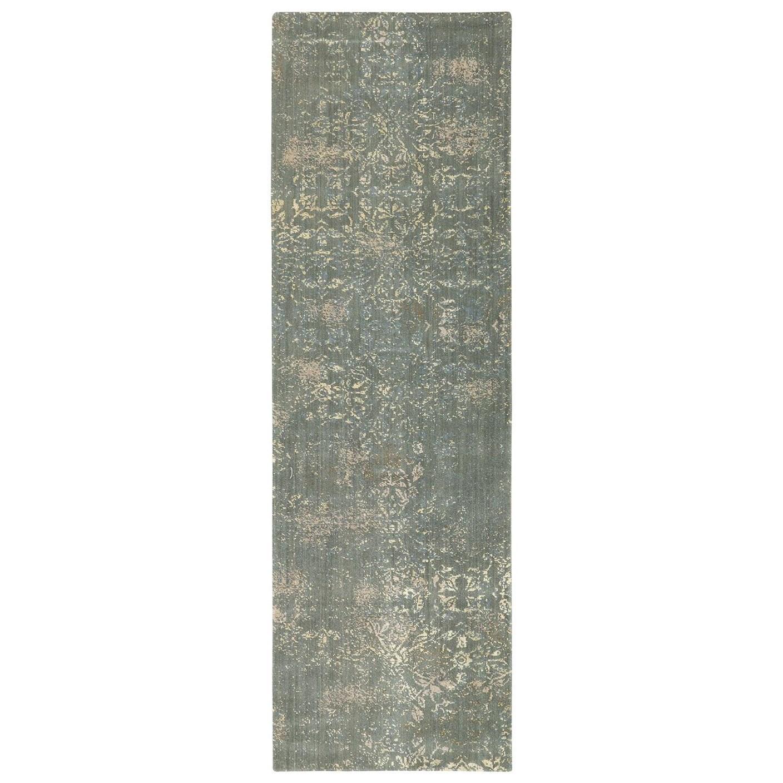 Karastan Rugs Evanescent 2'6x8' Nai Sage Rug Runner - Item Number: RG818 0015 030096