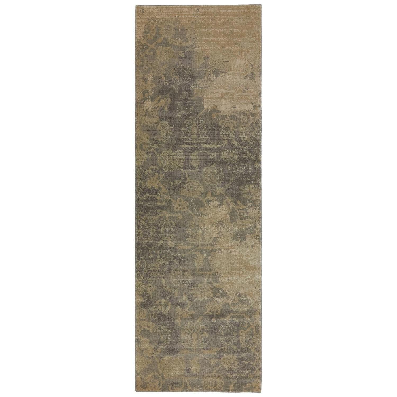 Karastan Rugs Evanescent 2'6x8' Bari Gray Rug Runner - Item Number: RG818 119 030096