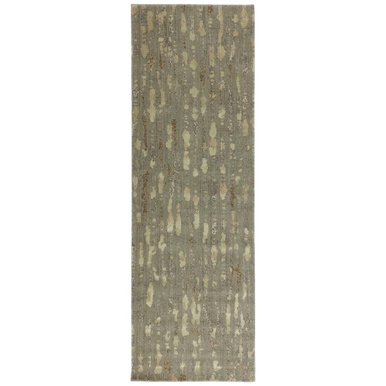 Karastan Rugs Evanescent 2'6x8' Prato Taupe Rug Runner - Item Number: RG818 347 030096