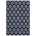 Karastan Rugs Pacifica 3'5x5'5 Briarcliff Indigo Rug - Item Number: 90486 50102 041065