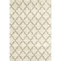 Karastan Rugs Prima Shag 4'x5'7 Temara Lattice Camel Rug - Item Number: RG951 6013 048067