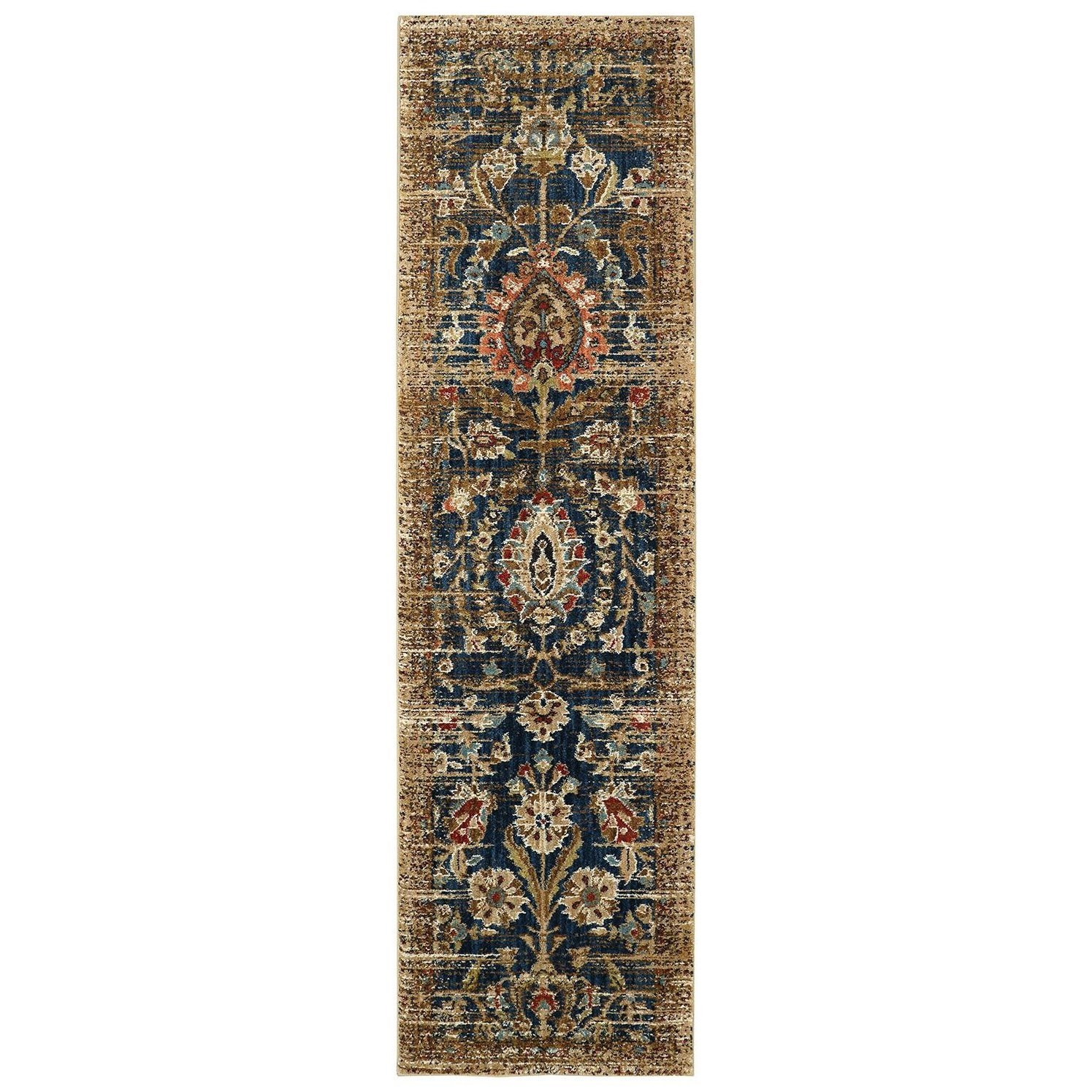 Rug Runner Gold: Spice Market 2'1x7'10 Charax Gold Rug Runner