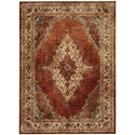 "Karastan Rugs Spice Market 3' 5""x5' 5"" Rectangle Ornamental Area Rug - Item Number: 90935 20044 041065"