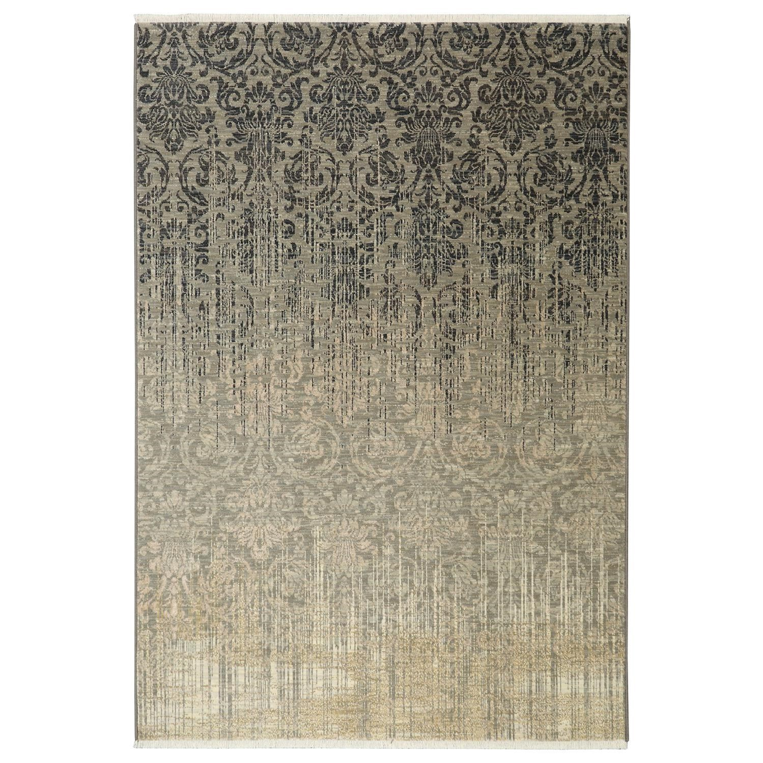 Karastan Rugs Titanium 9'4x12'9 Tiberio Gray Rug - Item Number: 39400 16009 112153