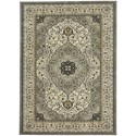 "Karastan Rugs Touchstone 3' 6""x5' 6"" Rectangle Ornamental Area Rug - Item Number: 90943 90075 042066"