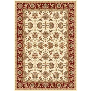 7.7 x 10.10 Area Rug : Red