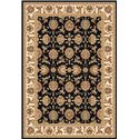 Kas Chateau 3.3 x 4.11 Area Rug : Black - Item Number: 939115627