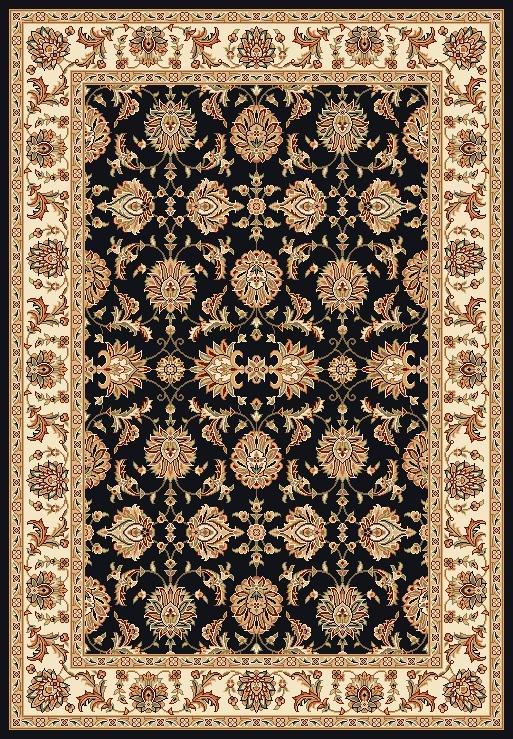 Kas Chateau 7.7 x 10.10 Area Rug : Black - Item Number: 939115653