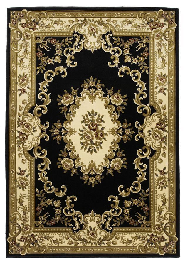 Kas Corinne 5.3 x 7.7 Area Rug : Black/Ivory - Item Number: 939115829