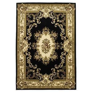 Kas Corinne 5.3 x 7.7 Area Rug : Black/Ivory
