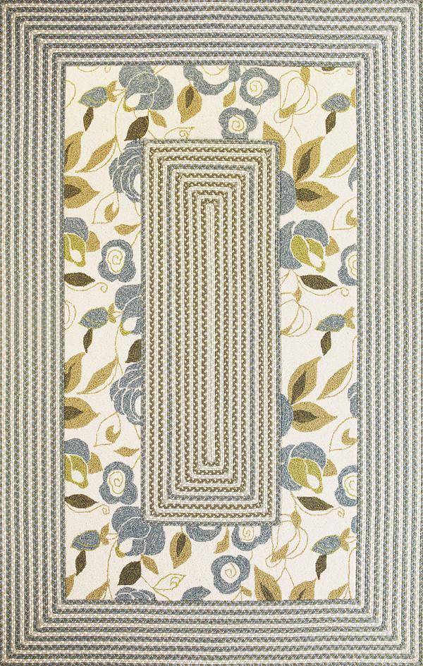 Kas Falmouth 5 x 7.9 Area Rug : Floral - Item Number: 939554223