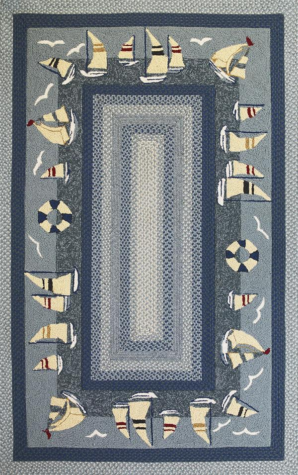 Kas Falmouth 7.6 x 9.6 Area Rug : Sailing - Item Number: 939554540