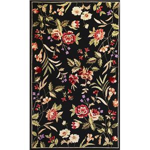 Kas Seabrook 5 x 8 Area Rug : Black Floral