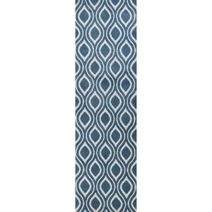 "Kas Allure 2'3"" X 7'6"" Blue/Ivory Verano Area Rug"