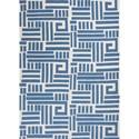 Kas Allure 5' X 7' Blue/Ivory Visions Area Rug - Item Number: ALU40715X7