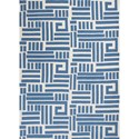 "Kas Allure 6'7"" X 9'6"" Blue/Ivory Visions Area Rug - Item Number: ALU407167X96"
