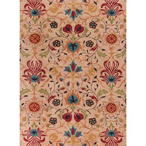 "Kas Anise 5' X 7'6"" Beige Tapestry Area Rug"