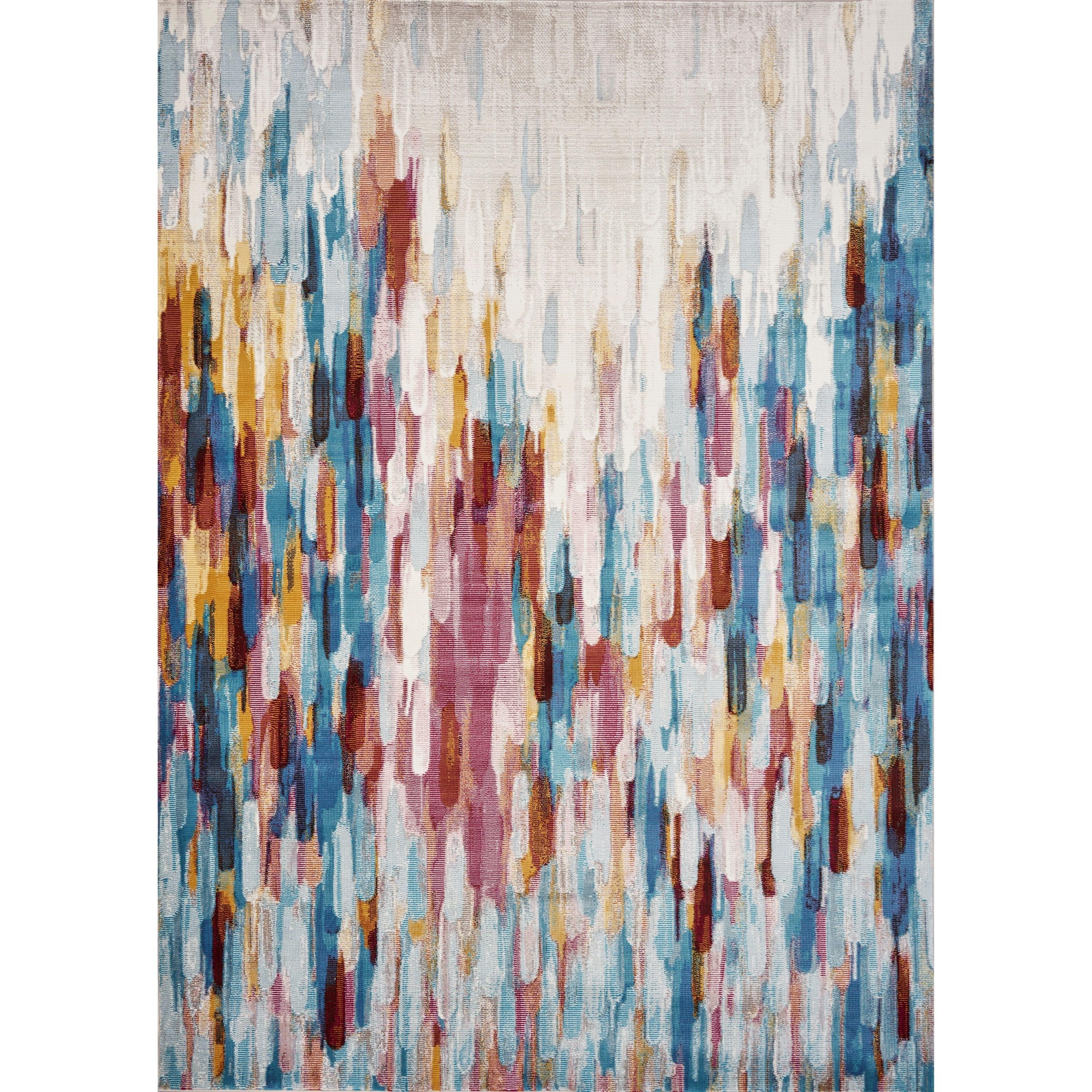 4' x 6' Mlticolor Moderne Rug