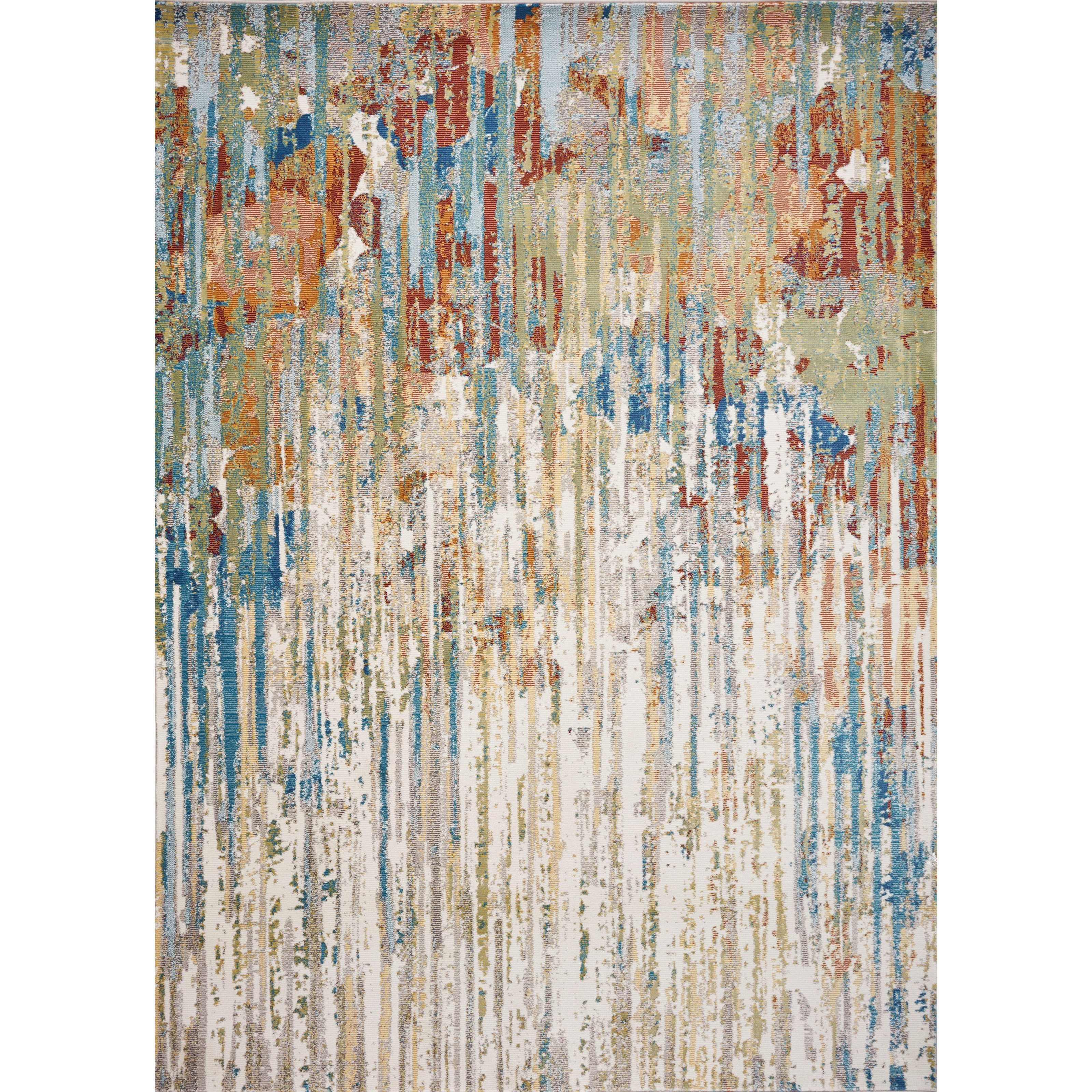 Arte 4' x 6' Ivory Elements Rug by Kas at Darvin Furniture