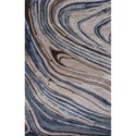 """Kas Artisan 3'3"""" X 5'3"""" Taupe/Blue Natura Area Rug - Item Number: ART215333X53"""