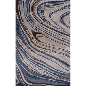 5' X 8' Taupe/Blue Natura Area Rug
