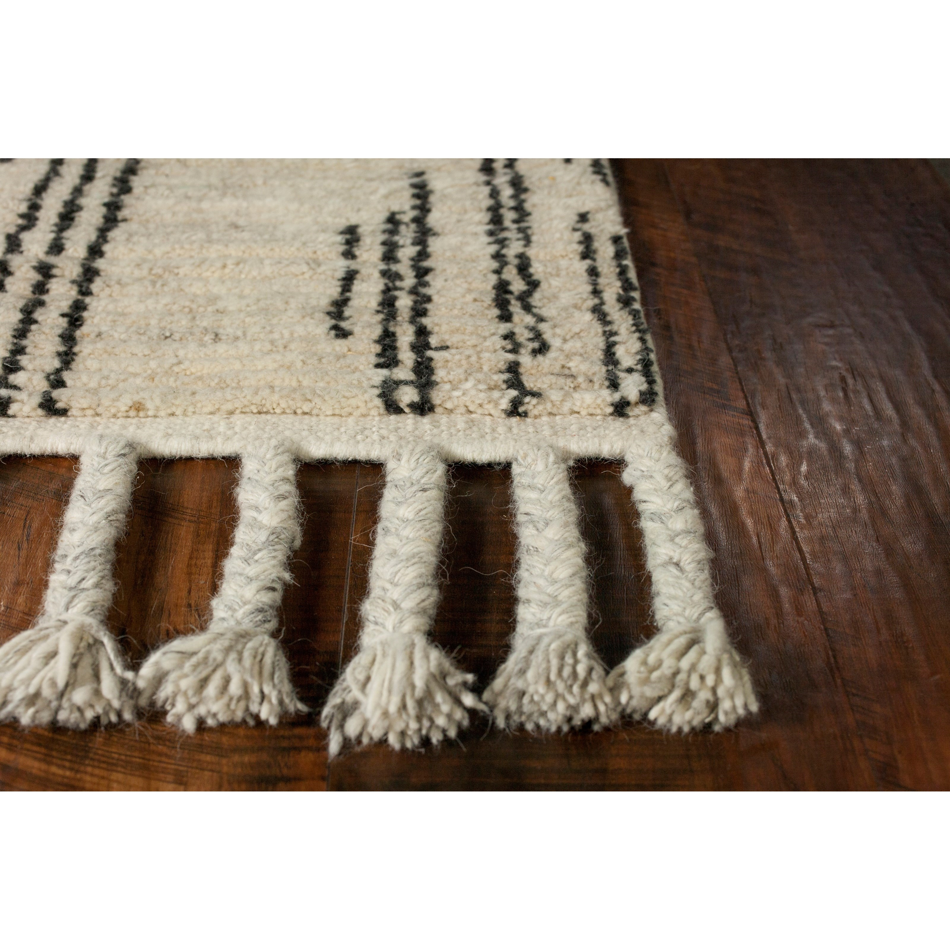 "Austin 7'9"" x 9'9"" Natural Stitches Rug by Kas at Darvin Furniture"