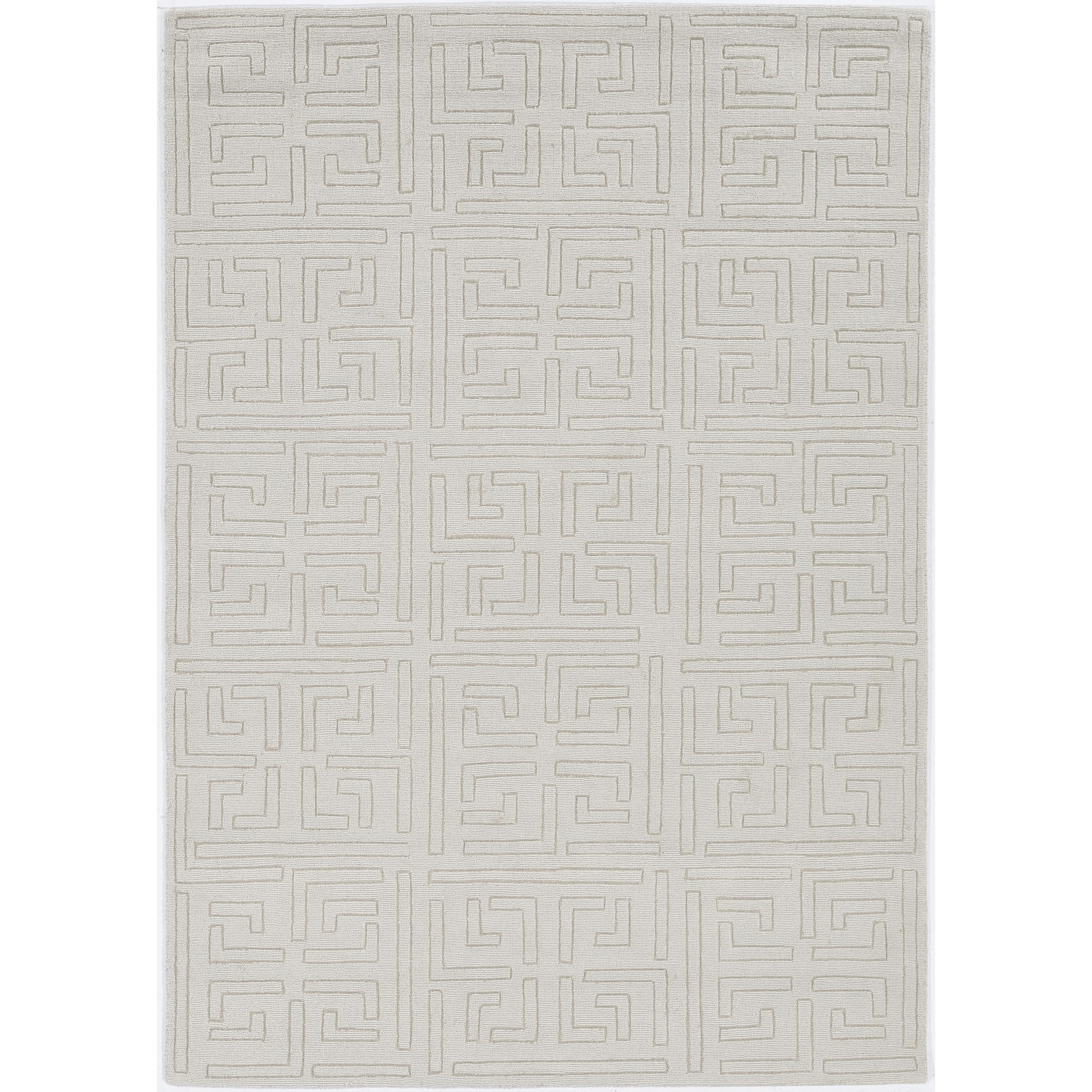 9' x 12' Ivory Cityscape Rug