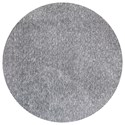 Kas Bliss 6' X 6' Grey Heather Shag Area Rug - Item Number: BLI15856X6RO