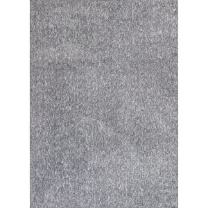 "Kas Bliss 7'6"" X 9'6"" Grey Heather Shag Area Rug"