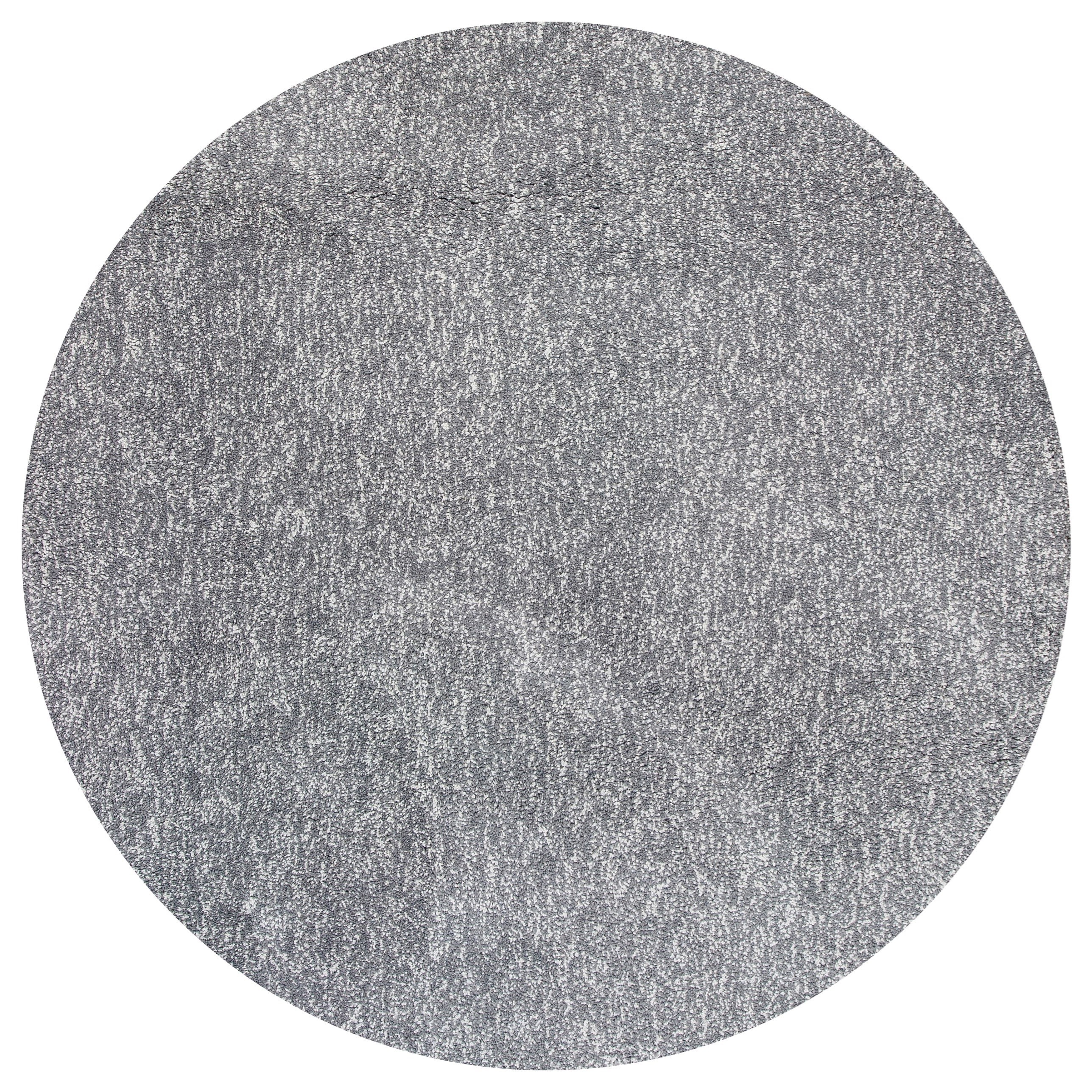 Bliss 8' X 8' Grey Heather Shag Area Rug by Kas at Zak's Home