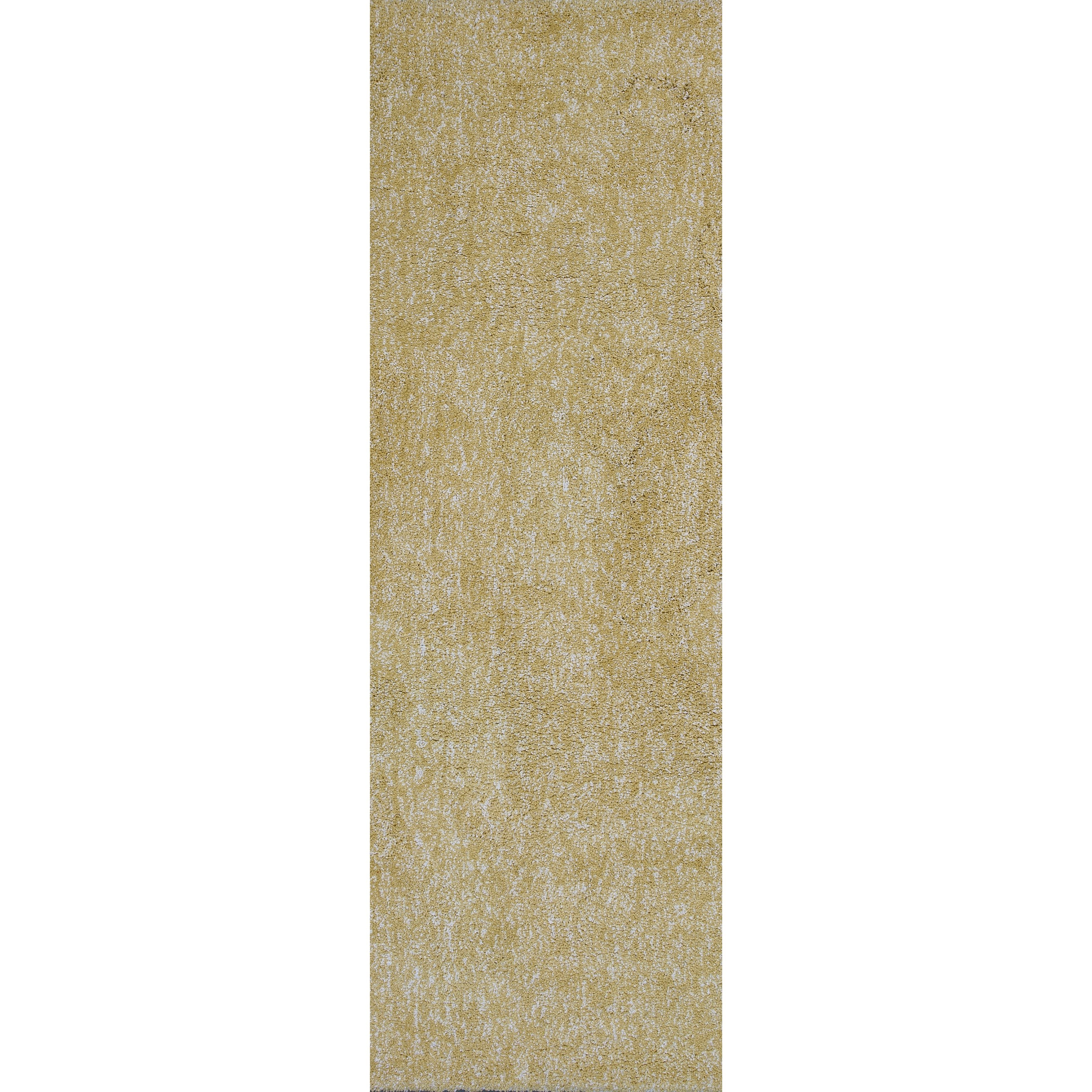 "Bliss 2'3"" X 7'6"" Yellow Heather Shag Area Rug by Kas at Zak's Home"