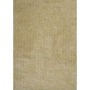 Kas Bliss 5' X 7' Yellow Heather Shag Area Rug
