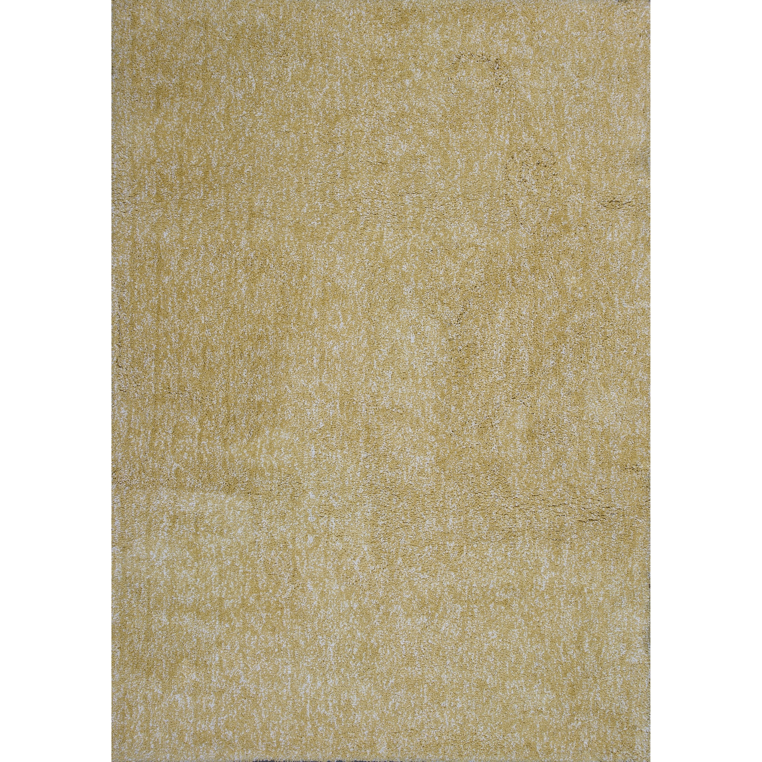 "Bliss 7'6"" X 9'6"" Yellow Heather Shag Area Rug by Kas at Zak's Home"