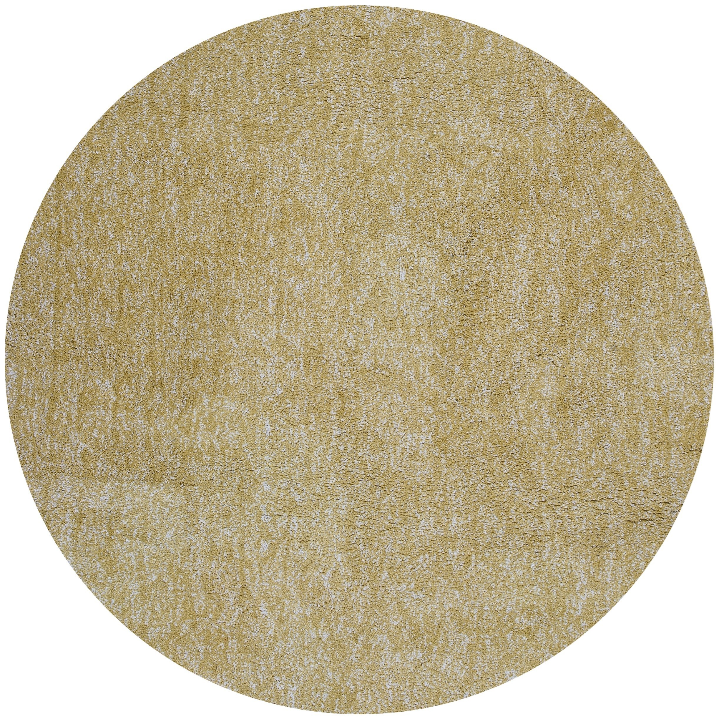 Bliss 8' X 8' Yellow Heather Shag Area Rug by Kas at Zak's Home