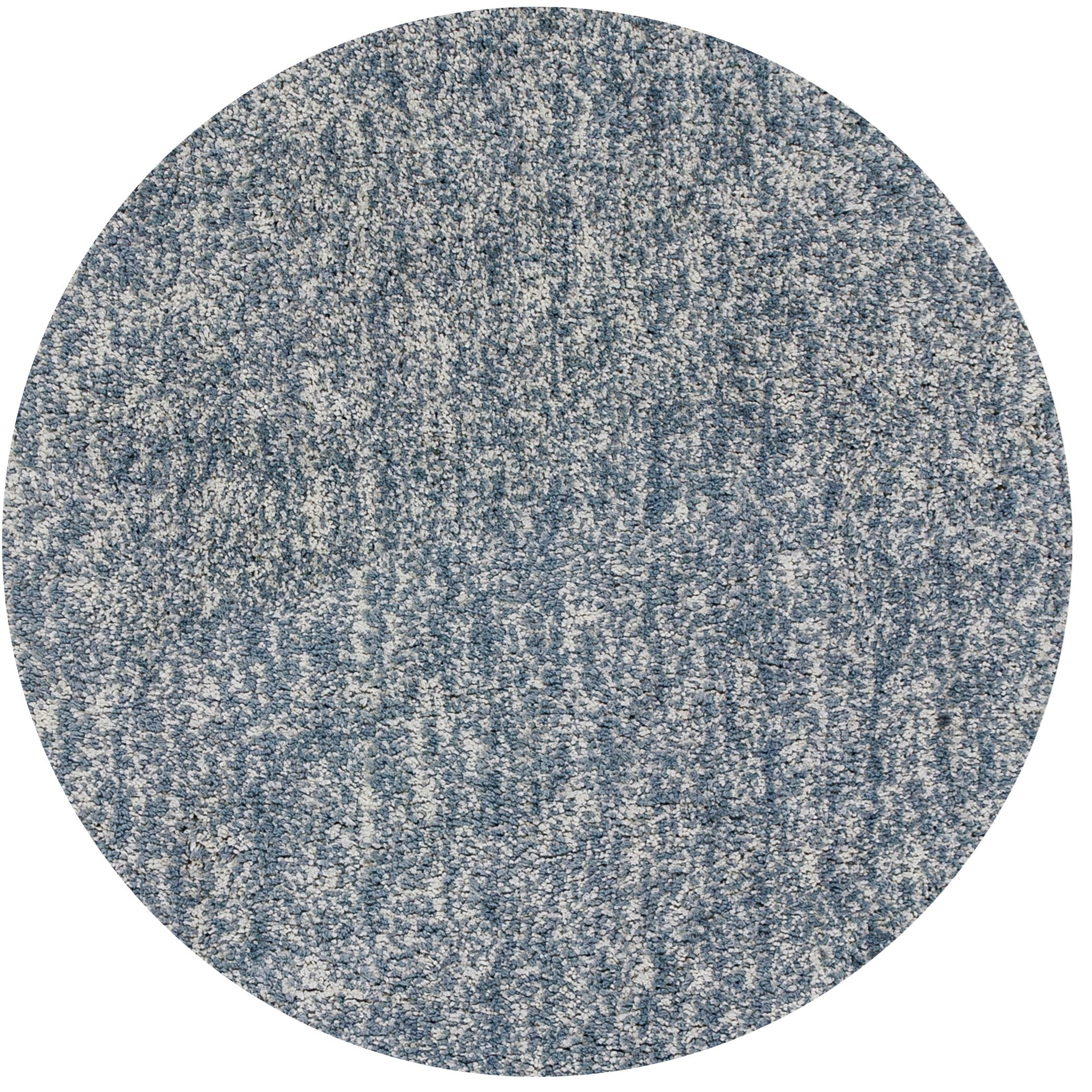 Bliss 6' X 6' Slate Heather Shag Area Rug by Kas at Zak's Home