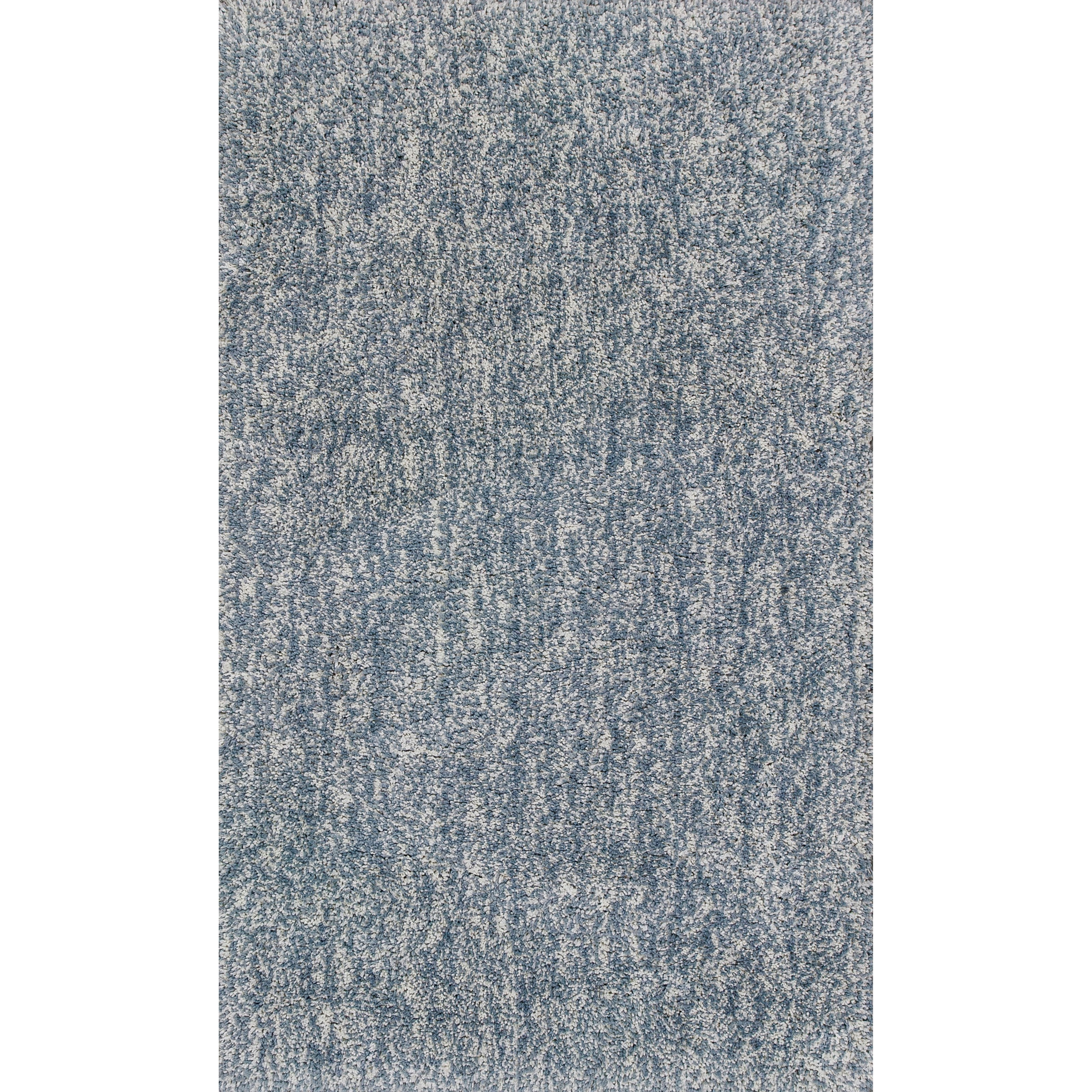 "Bliss 7'6"" X 9'6"" Slate Heather Shag Area Rug by Kas at Zak's Home"