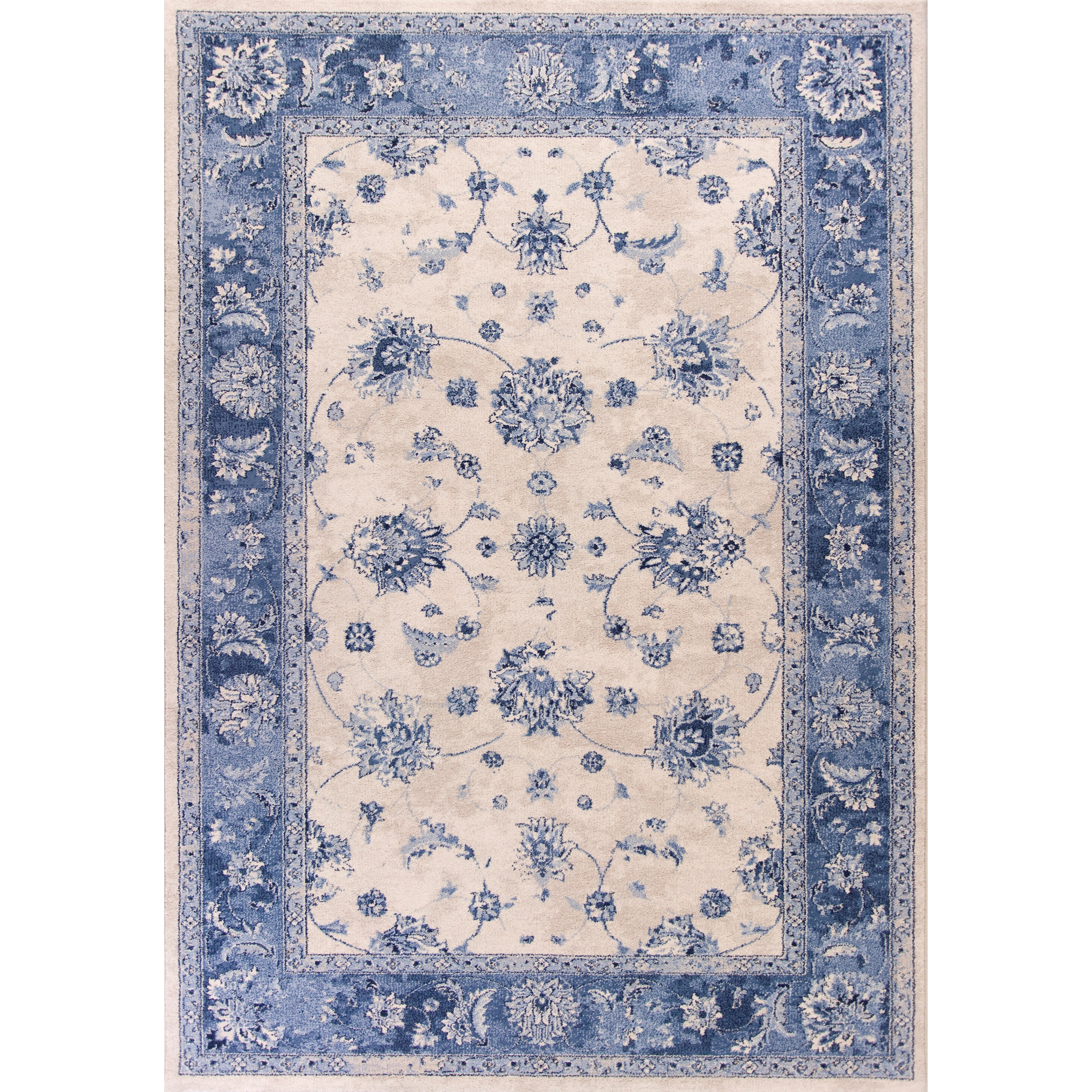 "3'3"" X 4'11"" Grey/Sky Blue Mahal Area Rug"