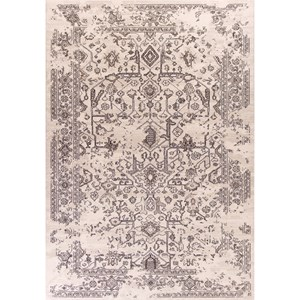 "Kas Bob Mackie Home Vintage 5'3"" X 7'7"" Grey Marrakesh Area Rug"
