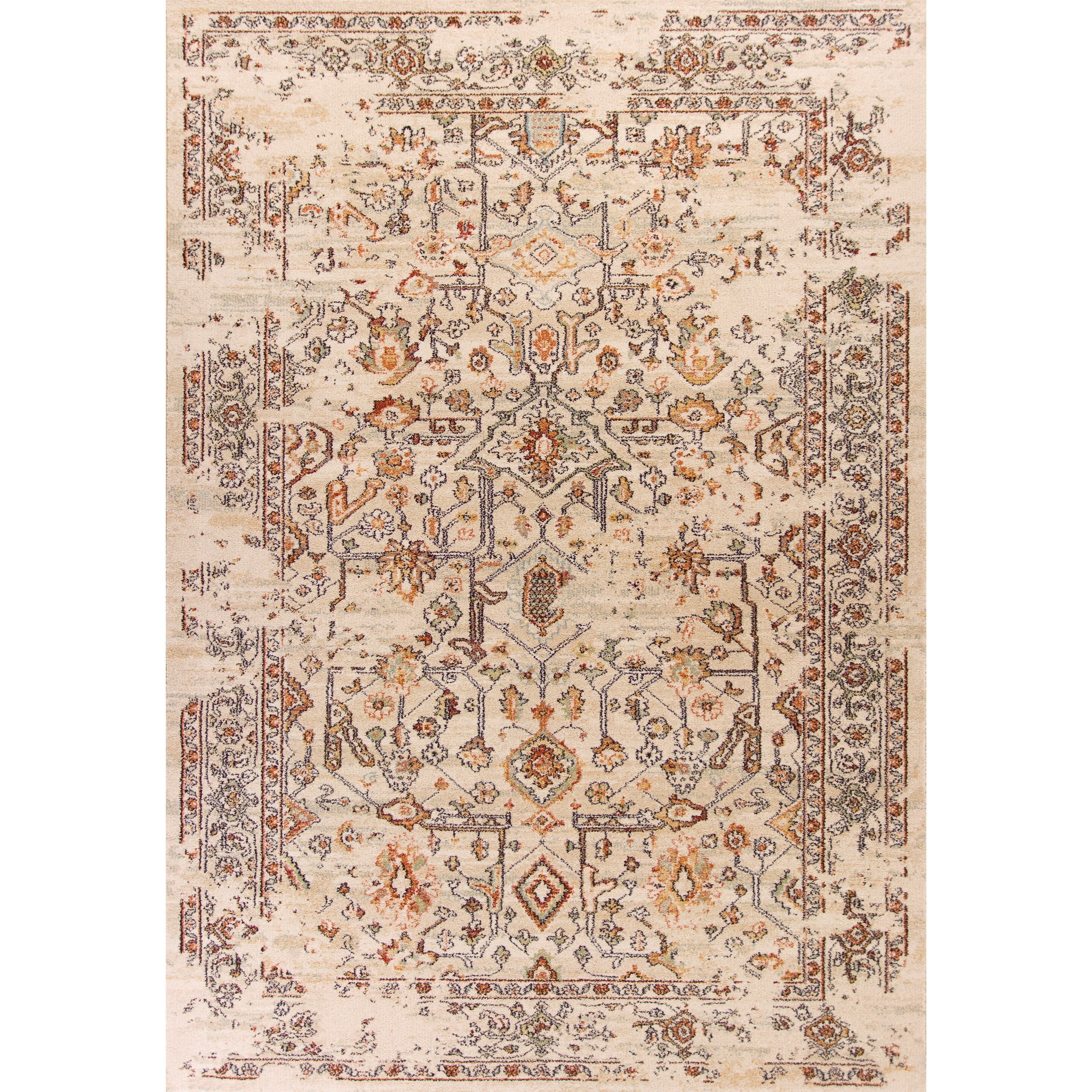"""Bob Mackie Home Vintage 3'3"""" X 4'11"""" Sand Marrakesh Area Rug by Kas at Zak's Home"""