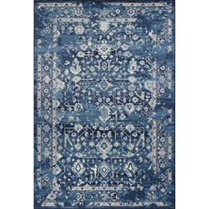 "Kas Bob Mackie Home Vintage 3'3"" X 4'11"" Azure Blue Marrakesh Area Rug"