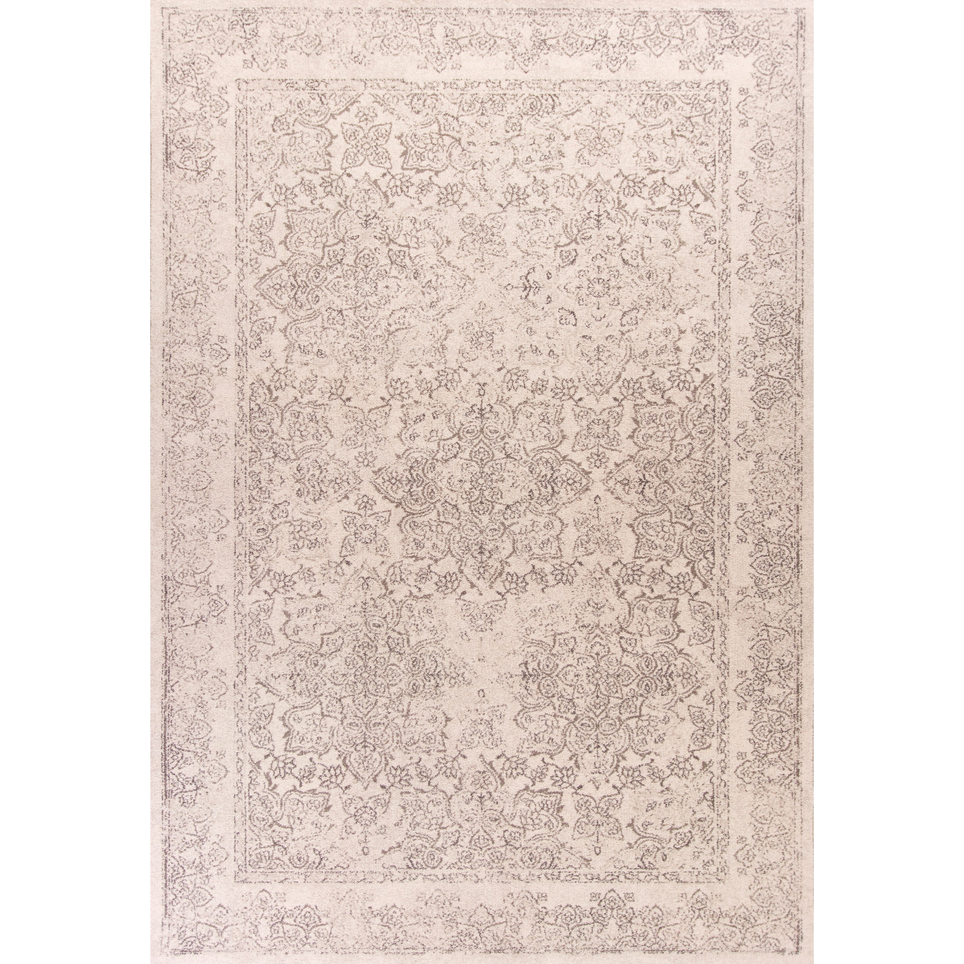 """Bob Mackie Home Vintage 5'3"""" X 7'7"""" Ivory Damascus Area Rug by Kas at Zak's Home"""