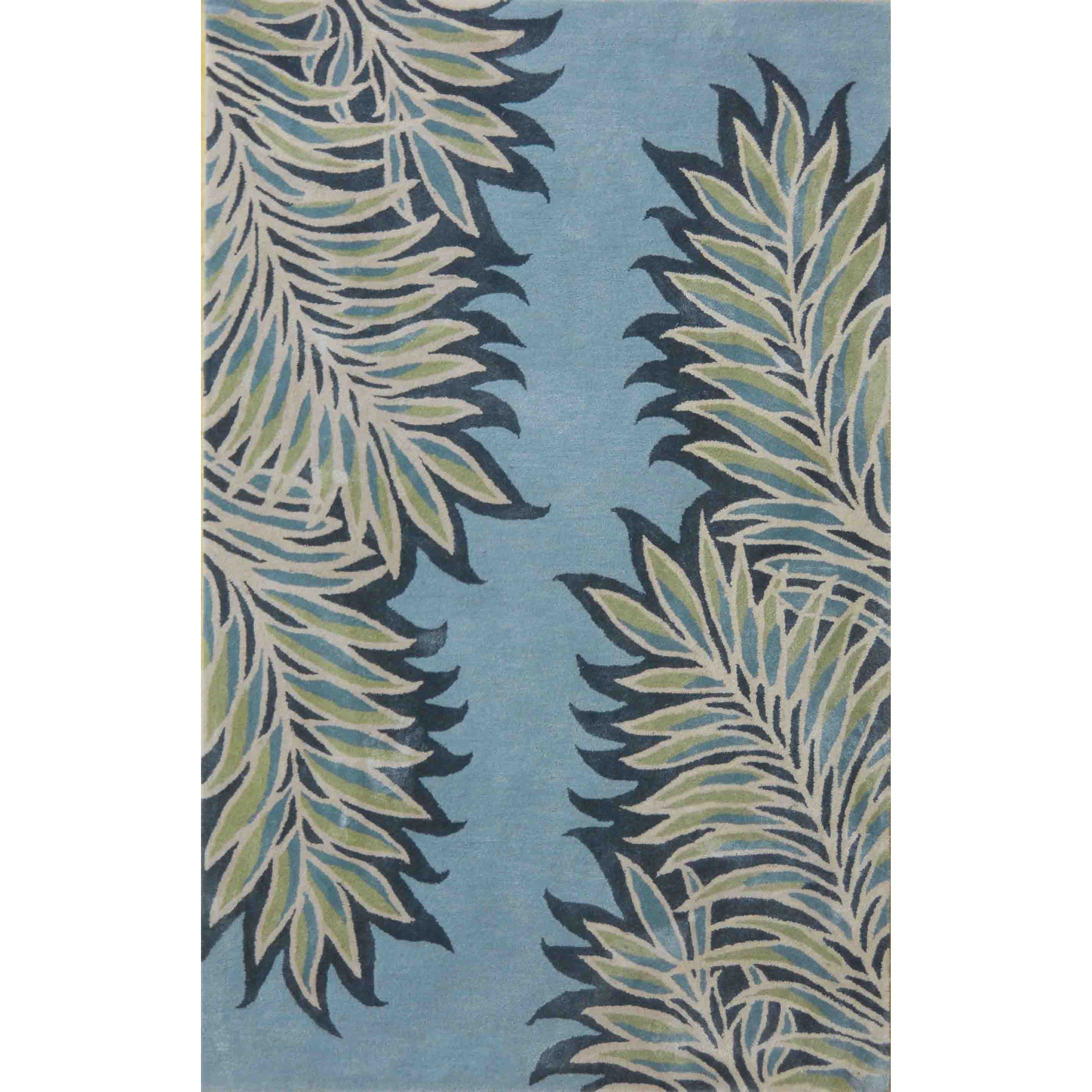 Bob Mackie Home 5' X 8' Ice Blue Folia Area Rug by Kas at Darvin Furniture