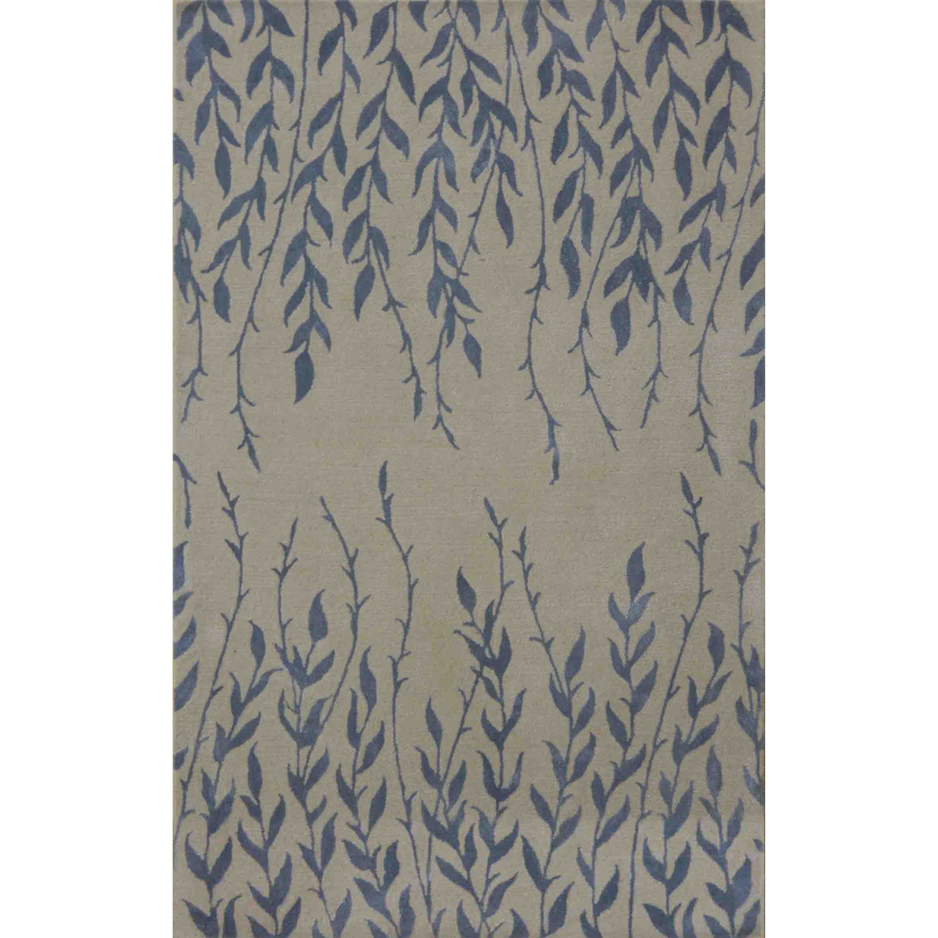 """Bob Mackie Home 3'3"""" X 5'3"""" Ivory Tranquility Area Rug by Kas at Darvin Furniture"""